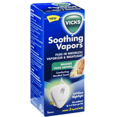 VICKS® SOOTHING VAPORS WATERLESS VAPORIZER