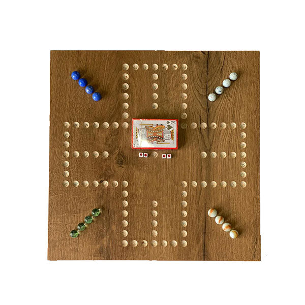 Jackaro Wahoo 2 in 1 Hand Made Wooden Board Game - 4 Players