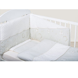 Bubaba 6P Bedding Teddy Dream Minky White