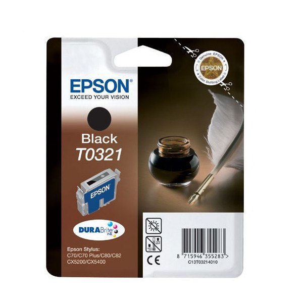 Epson T0321 (T032140) Black Cartridge - Gadgitechstore.com