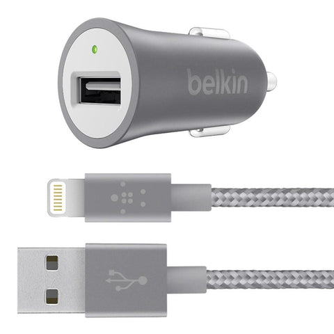 Belkin Universal Car Charger with Lightning Cable - Gadgitechstore.com