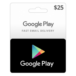 Google Play US Store Gift Card $25