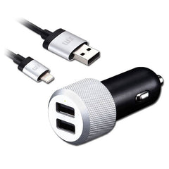 Just Mobile Highway Max Dual USB Car Charger + Lightning Cable