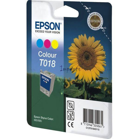Epson Ink Cartridge T018401 Color Cyan, Magenta, Yellow