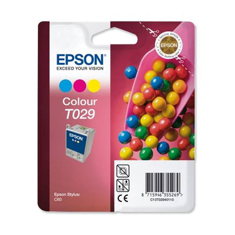 Epson Ink Cartridge T029401 Color Cyan, Magenta, Yellow