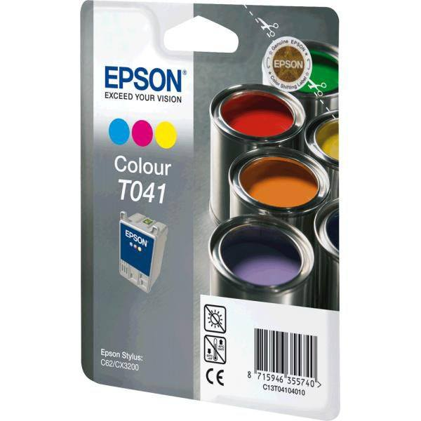 Epson Ink Cartridge T041040 Color Cyan, Magenta, Yellow - Gadgitechstore.com