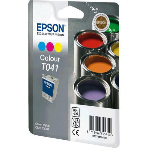 Epson Ink Cartridge T041040 Color Cyan, Magenta, Yellow