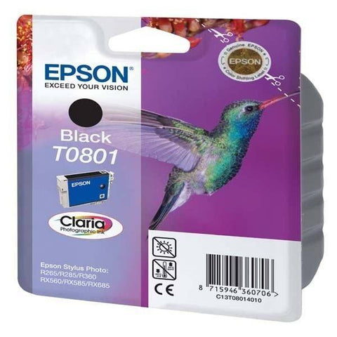 Epson Ink Cartridge T0801 Color Black