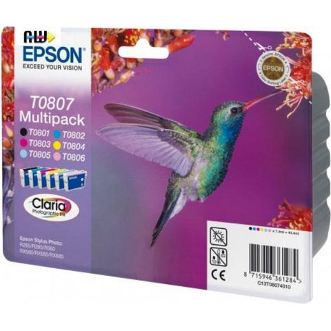Epson Ink Cartridge (T080740) Multicolor Pack