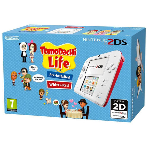 NINTENDO 2DS TOMODASHI LIFE BUNDLE + 2 GAMES