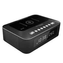 Promate Multi-Function Stereo Wireless Speaker and Charging Station TimeBase-1