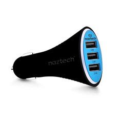 Naztech Turbo T3 Micro USB 7.2A Vehicle Charger - Gadgitechstore.com
