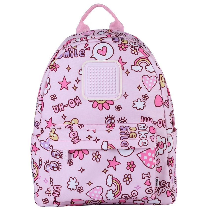 Upixel Funny Square Cartoon Pink Backpack