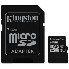 Kingston MicroSD™ w/ 1 Adapter CLASS 10 G2