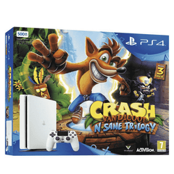 Sony Playstation 4 Slim 500GB + Crash Bandicoot Bundle