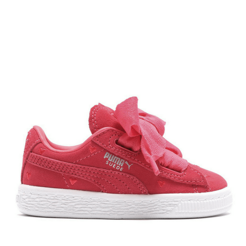 half off 7e8f1 884aa Puma Kids' Running Suede Heart Valentine Shoes