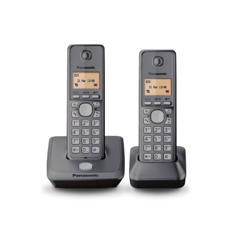 Panasonic Digital Cordless Phone With 2 Handsets KX-TG2712