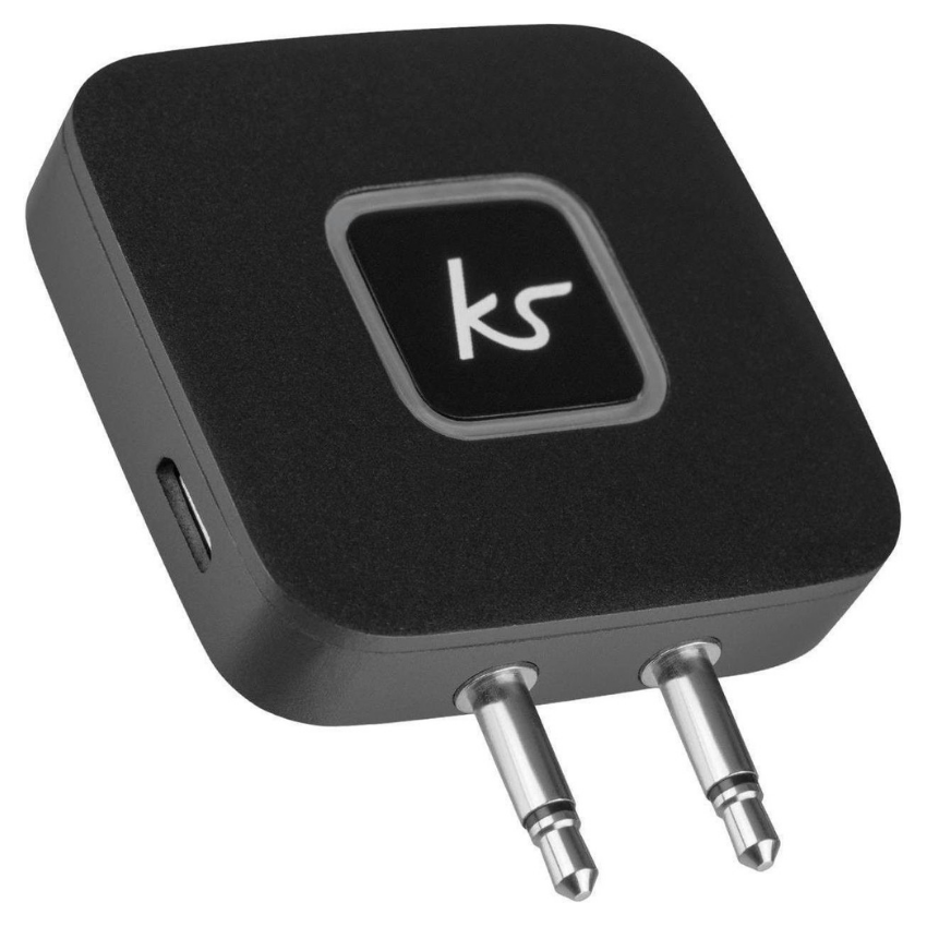 KitSound - Bluetooth Airline Adapter Audio Transmitter