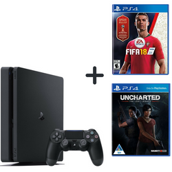 Sony Playstation 4 Slim 500GB + FIFA 18+ Uncharted