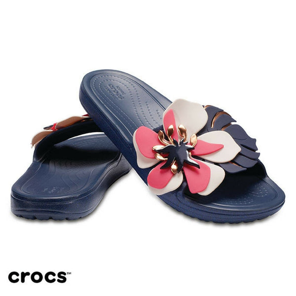 Crocs Women's Lifestyle Crocs Sln Botanical Slippers