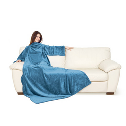 Lavatelli Kanguru Women Blanket with Sleeves - Ocean