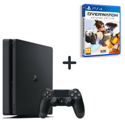Sony Playstation 4 Slim 500GB + Over Watch (PS4 Game)