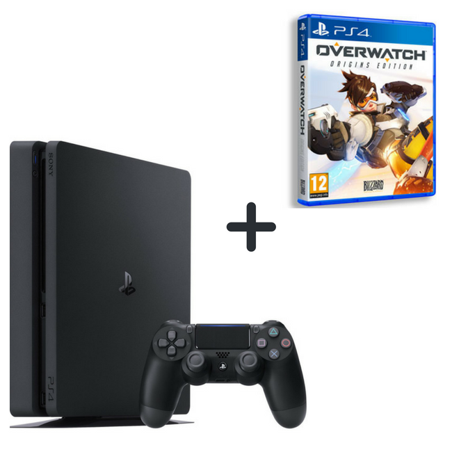 c8b7fae03 Sony Playstation 4 Slim 500GB + Over Watch (PS4 Game)