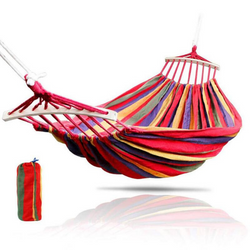 Hammock Rainbow Canvas + Wooden Stick 200 x 60 cm