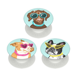 PopSockets Phone Grip PopMinis Dogs In Sunglasses On Light Green