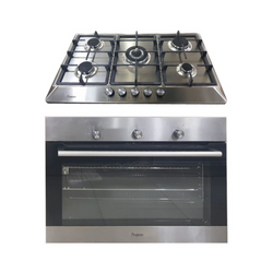 Perfetto 90cm Built In Oven  Full GAS + GRILL  INOX