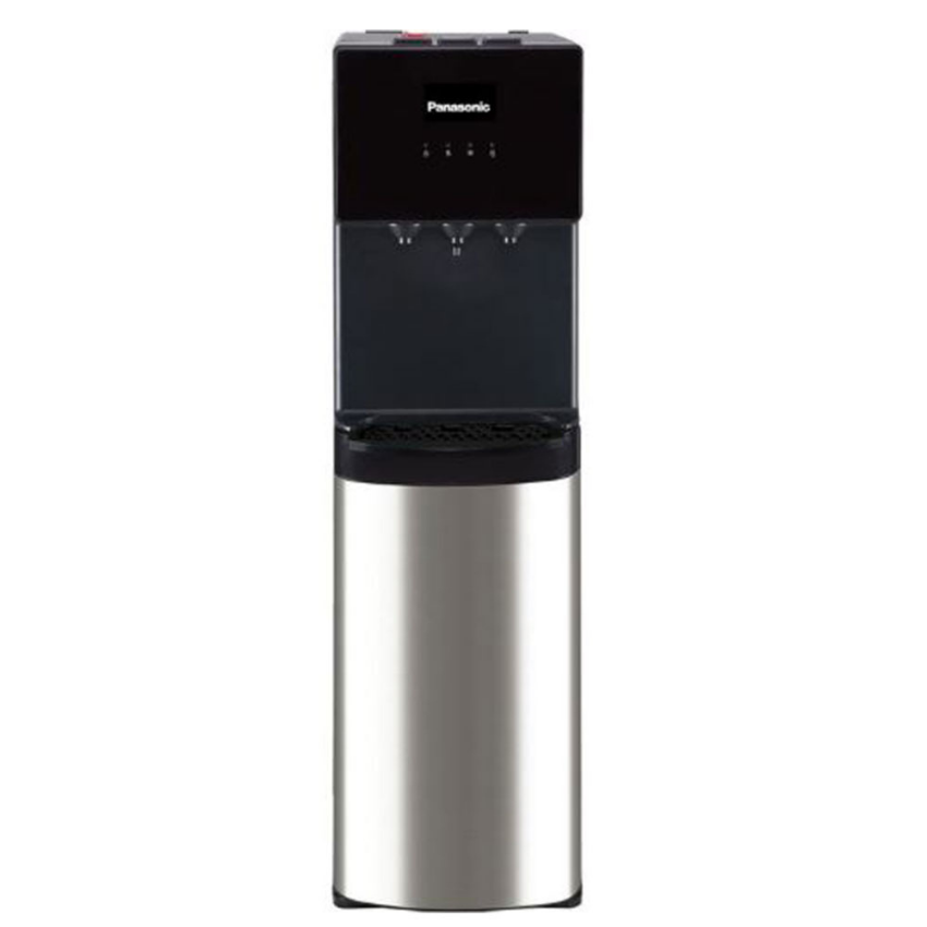 Panasonic Water Dispenser Top Loading Hot-Cold & Normal Water Taps Child-Lock Black & Stainless Steel
