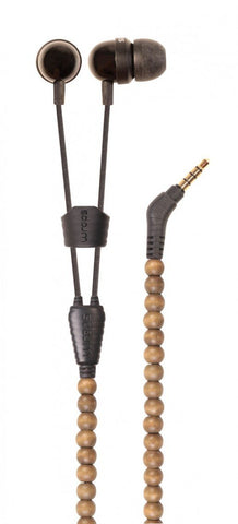 Wraps Wooden Beads Walnut Earphones with Mic