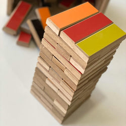 Jenga- Customized Jenga 54 Multi-Colored Wood Blocks (Special Edition)