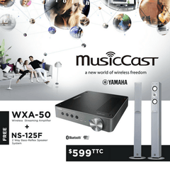 Yamaha WXA-50 MusicCast Wireless Streaming Amplifier + NS-125F 2-Way 120W Speakers