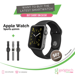 Apple Watch Sport Silver Aluminum Case 42MM Bundle - GadgitechStore.com Lebanon - 1