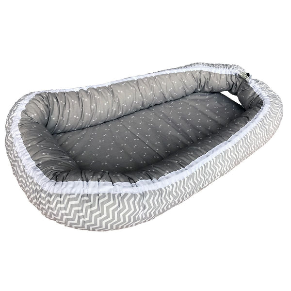 Bubaba Baby Nest Grey Chevron
