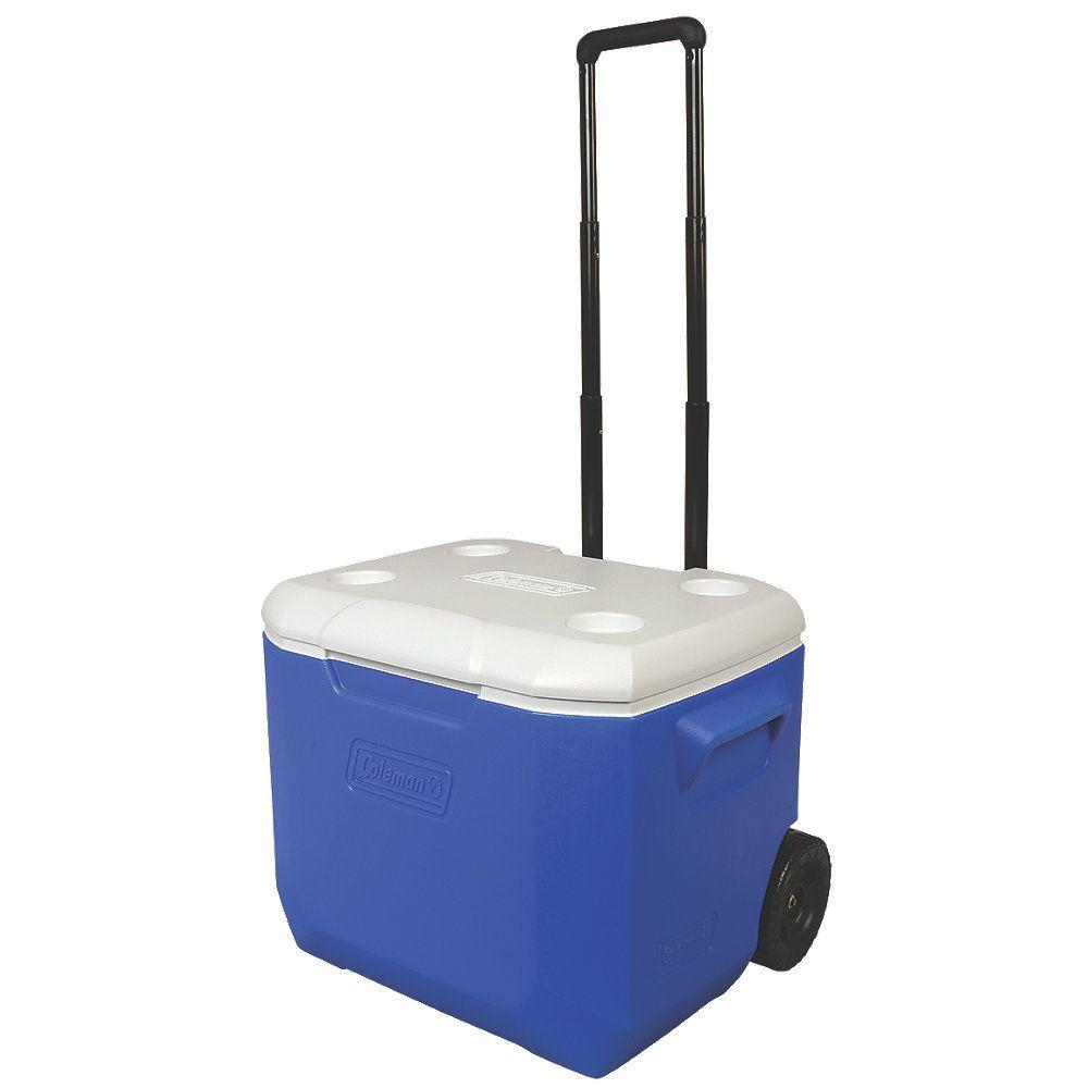 Coleman 60 Qt. Blue Wheeled Performance Cooler