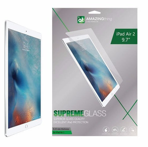 AMAZINGthing Apple IPAD AIR 2 0.33MM SUPREME GLASS PROTECTOR - GadgitechStore.com Lebanon