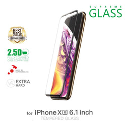 AMAZINGthing iPhone XR 0.3M 2.5D SUPREME GLASS (CRYSTAL)
