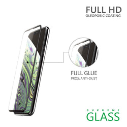 AMAZINGthing iPhone XS MAX 0.2M 3D HYBIRD FULLY COVERED SUPREME GLASS (BLACK)