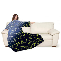 Lavatelli Kanguru Blanket with Sleeves - Constellations Glow in the Dark - Gadgitechstore.com