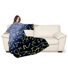 Lavatelli Kanguru Blanket with Sleeves - Constellations Glow in the Dark
