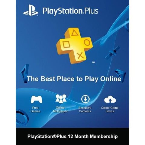Sony PS4 Playstation Plus Cards – Gadgitechstore.com