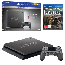 Sony Playstation 4 Slim 1TB Days of Play Limited Edition Console with Days Gone Bundle