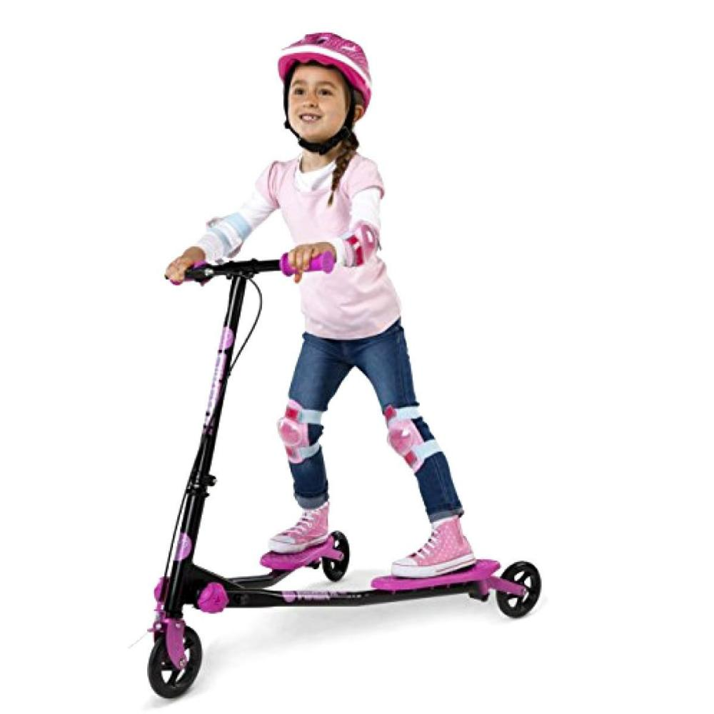 Y Fliker Scooter >> Yvolution Y Fliker Scooter A1 Air 3 Wheel Anti Vibration Hand Grips Black Pink
