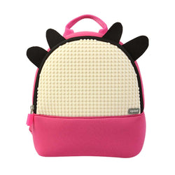 Upixel Doodle Cattle Backpack Fuchsia-Milk White