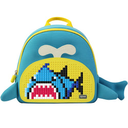 Upixel Little Blue Whale Backpack Blue-Yellow
