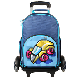 Upixel Super Class Rolling Backpack with Wheeled Telescoping Handle