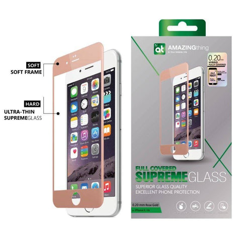AMAZINGthing iPhone 6/6S 0.20mm Fully Covered TEMPERED GLASS - GadgitechStore.com Lebanon - 1