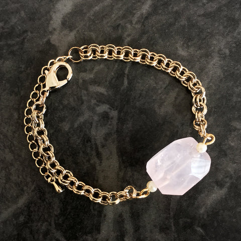 Chainless Brain's Rose Quartz Bracelet